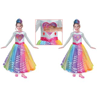 amscan Kostüm / Kleid Barbie Rainbow Magic Deluxe Gr. 110 - 134
